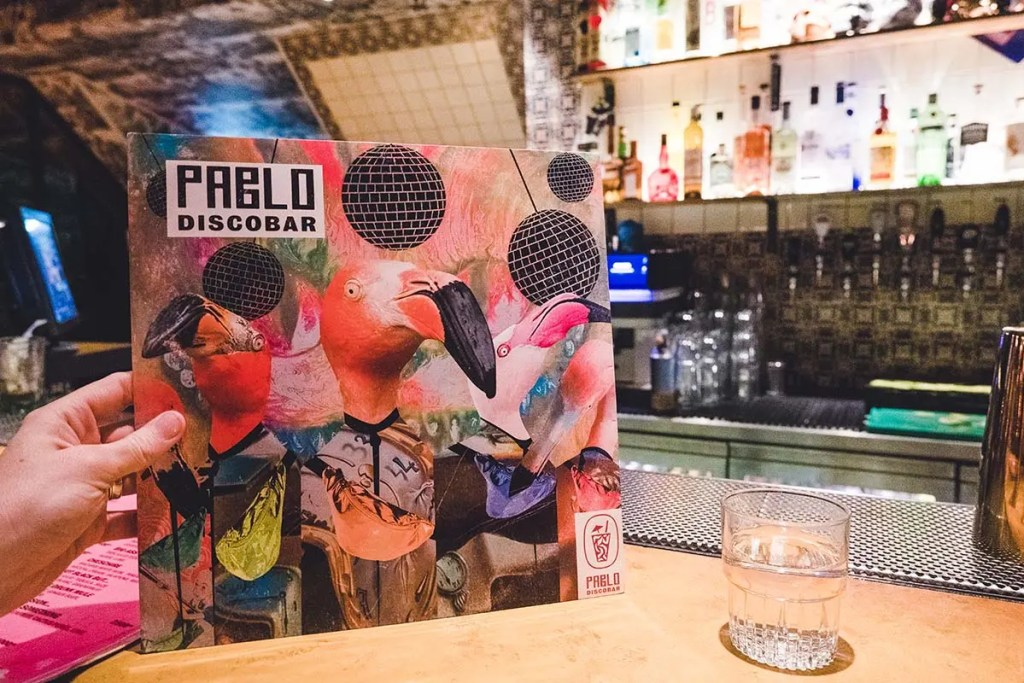 The Menu At Pablo Discobar was a LP Record Sleeve