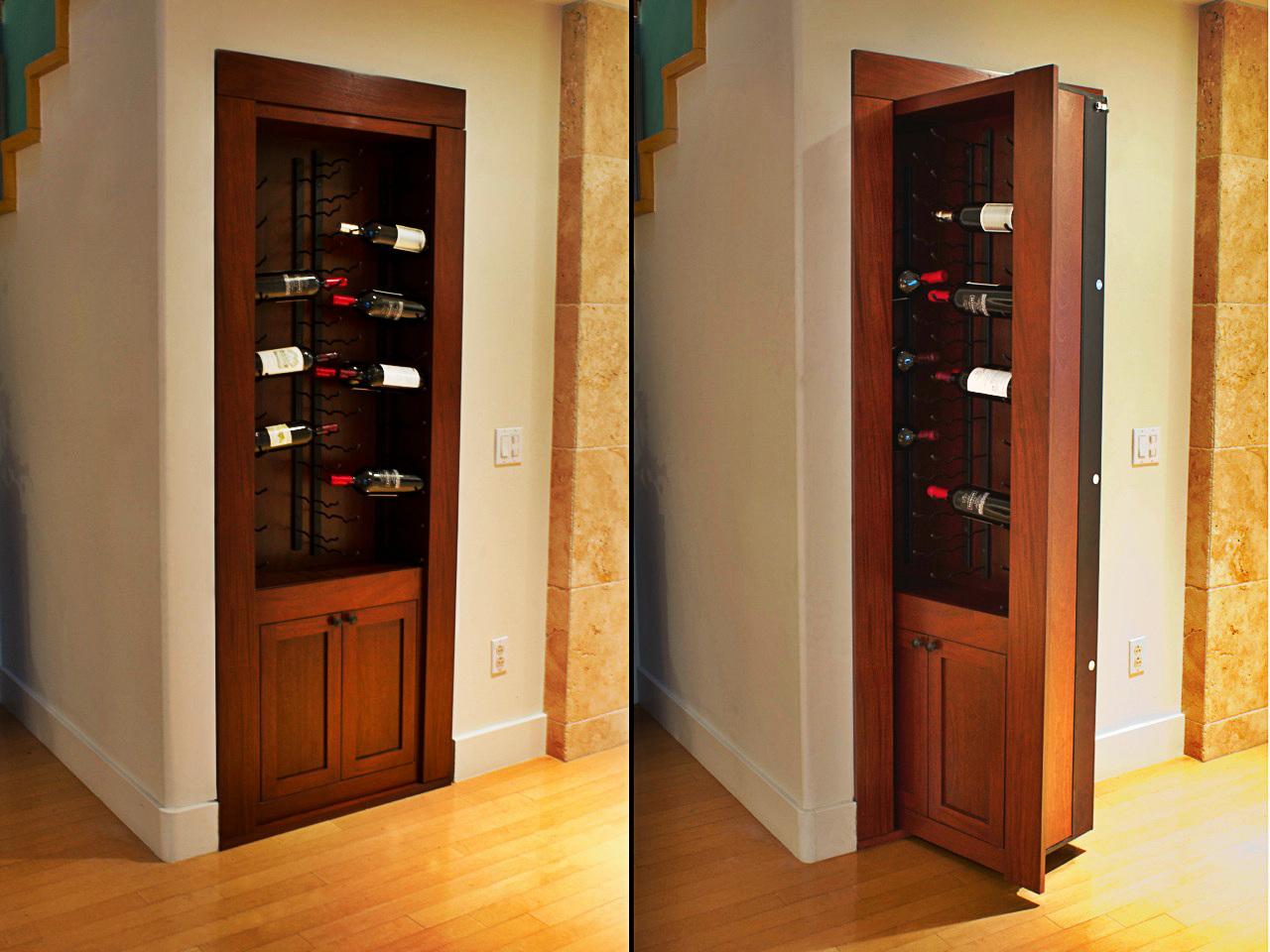 Wine Rack Door & Hidden Passageway | Billiard Cue Rack | Creative Home Engineering pezcame.com