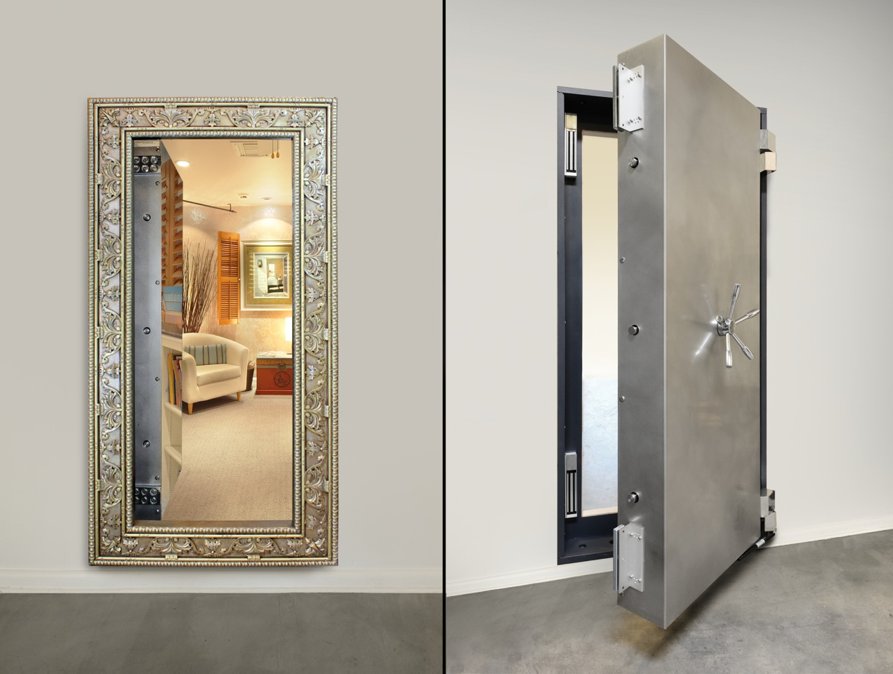 Ex&le Walk-in Gun Safes Using Our Secret Doors & Vault Doors - Secret Vault Doors for Homes - Highly Secure u0026 Custom