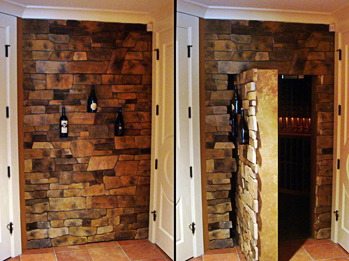 Wine Rack Hidden Door