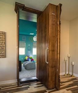 custom bookcase door