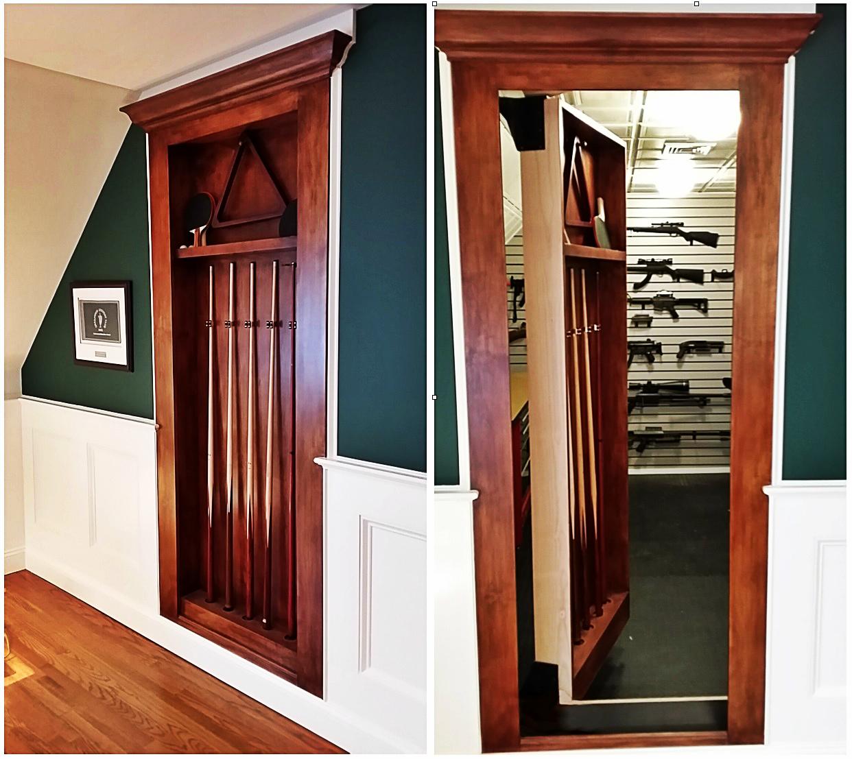 hidden-gun-safe-door - Creative Home Engineering