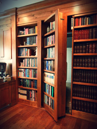 Vault bookcase door & Hidden Bookcase Doors - Secure \u0026 Custom - High Tech Secret Bookcases