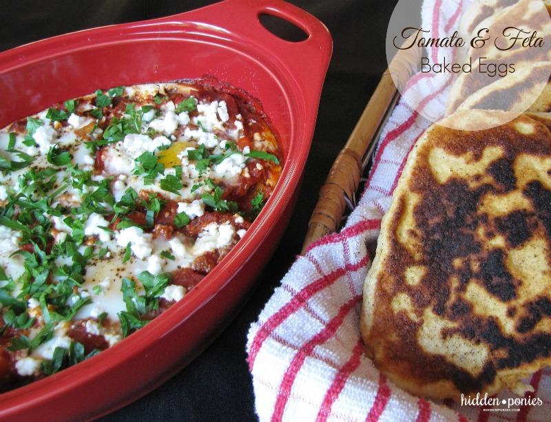 Tomato feta baked eggs