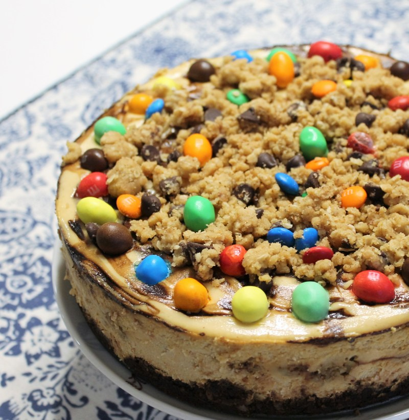 Peanut Butter Oatmeal Cookie Dough Cheesecake