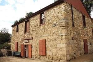 "The Campo stone store museum was the result of a raid by border bandits in 1875. The store decided to re-build their store into a stone ""fortress"" to ensure protection from future issues."