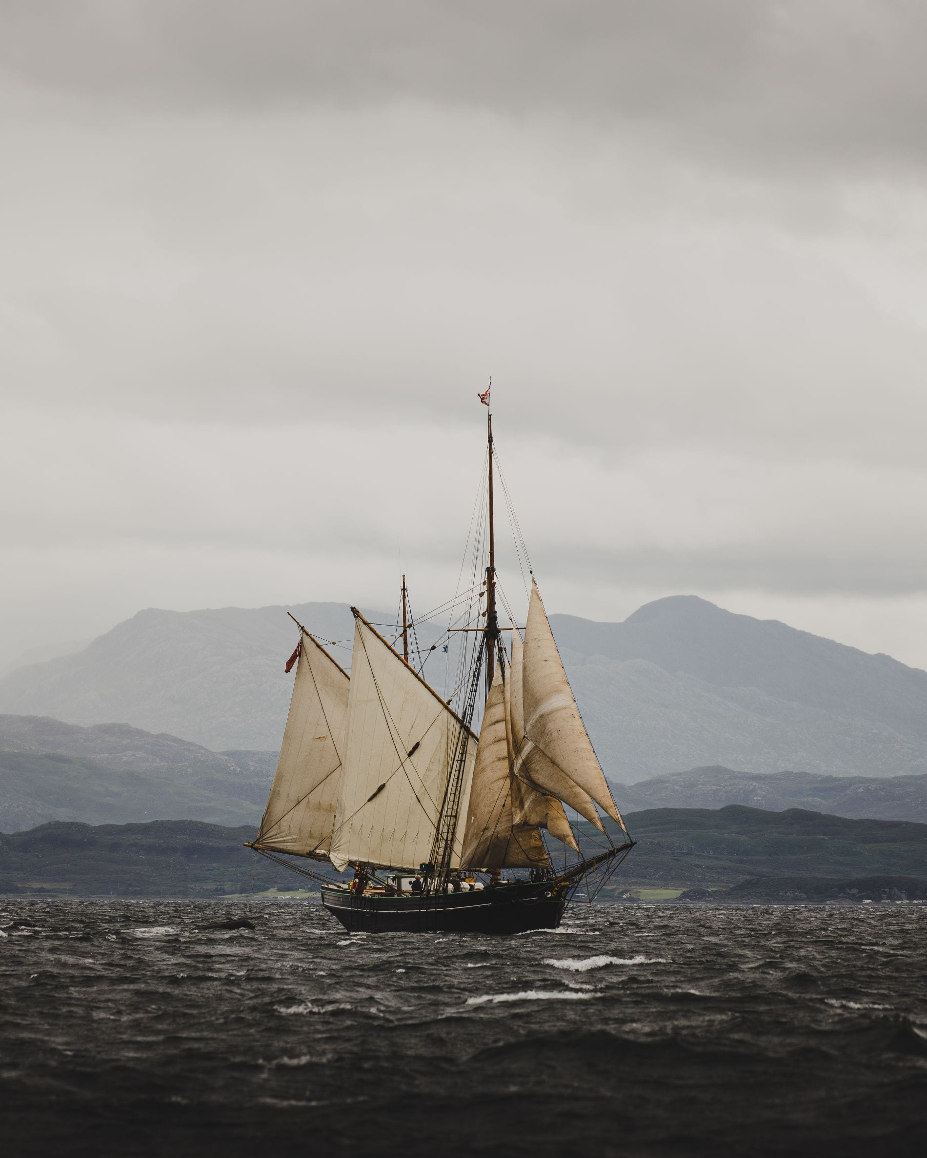 Bessie Ellen, sailing past Arisaig