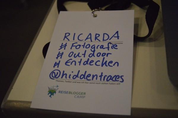 Mein Schild auf RBCamp16