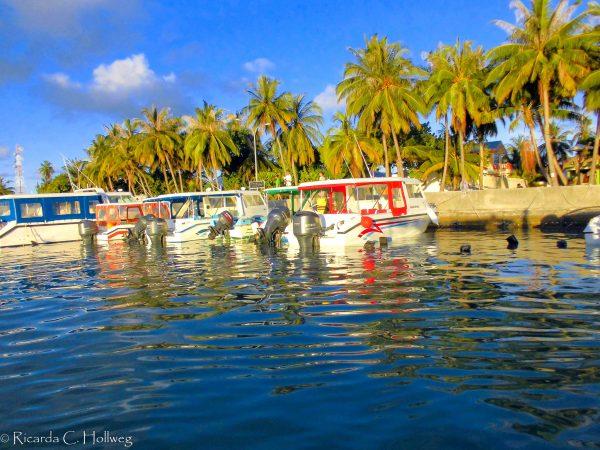 Boote auf Maafushi