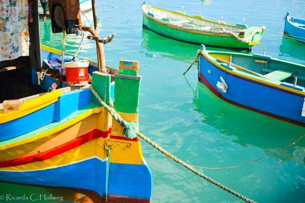Fischerbot in Marsaxlokk