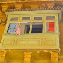Mintgrüner Erker Valletta