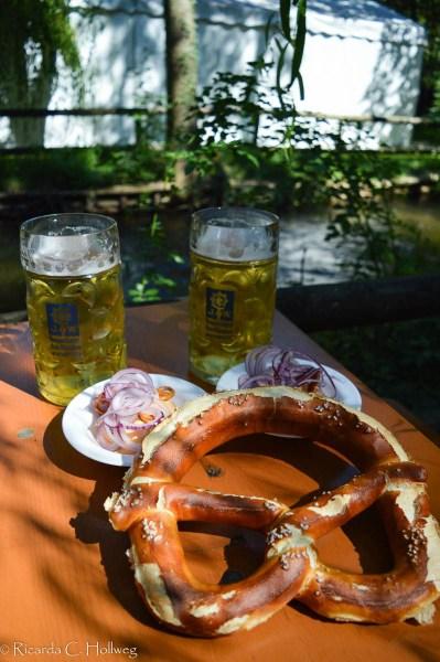 Breze und Bier in München