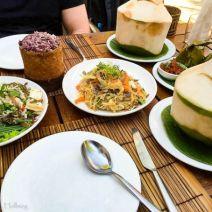 Vegetarisch laotisches Menü