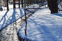 Hachinger Bach in Altperlach im Winter