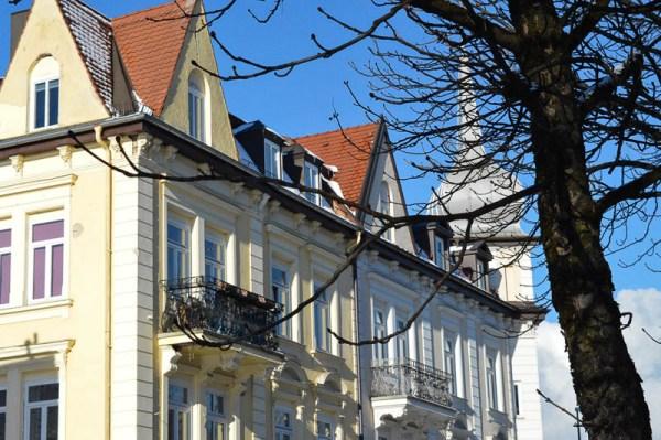 Abwechslungsreiche Architektur am Pfanzeltplatz