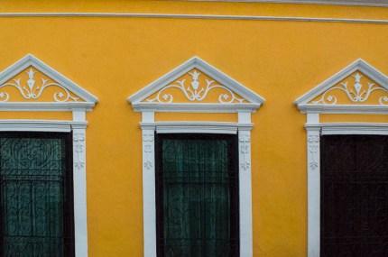 Gelbe Hausfront in Mérida