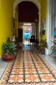 bunter Fußboden in Mérida