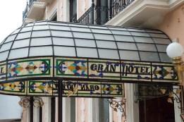 Deko eines Hoteleingangs in Mérida