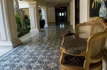Blauer Fußboden in einem Hotel in Mérida
