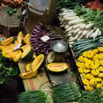 Buntes Gemüse auf dem Zentralmarkt Port Louis Mauritius