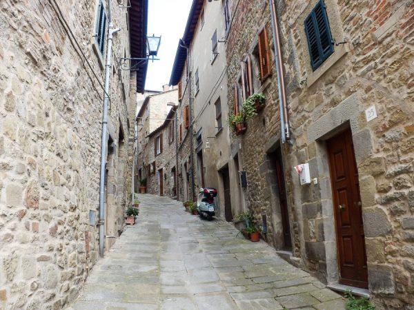 Gasse in Cortona