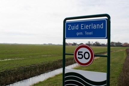 Ortsschild Süd Eierland Texel