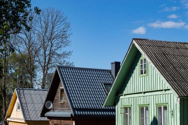 Holzhäuser in Trakai