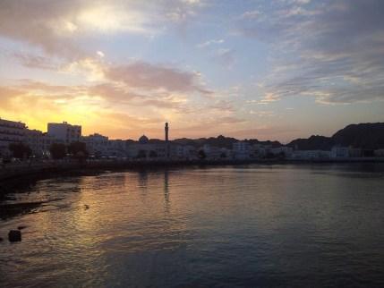 Sonnenuntergang in Mutrah Muskat