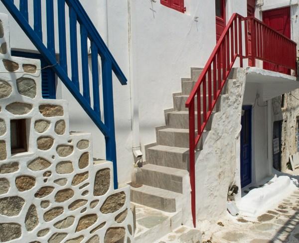 Farbkontraste in Hora Mykonos
