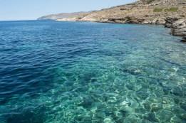 Klares Meer auf Tinos