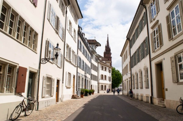 Altstadtgasse in Basel