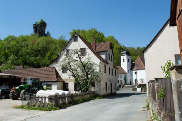 Dorfidylle in Tüchersfeld