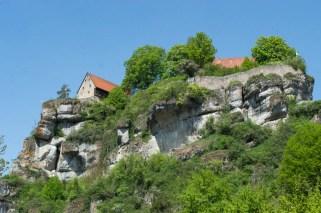 Mächtige Felsen in Tüchersfeld