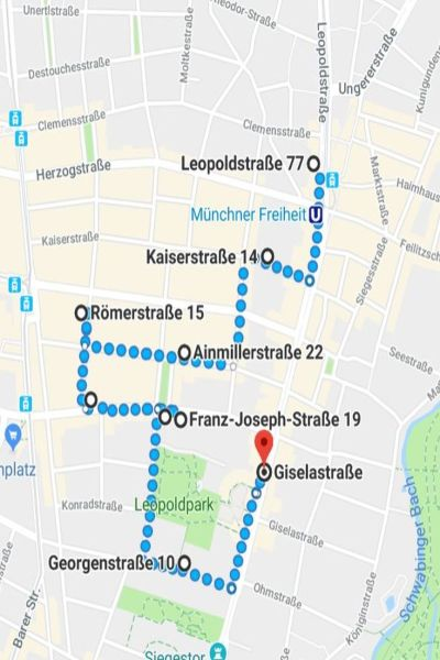 Route Jugendstil Schwabing