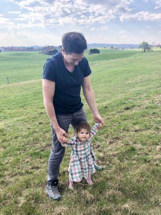 Laufübungen mit Papa