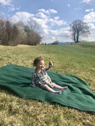 Picknickdecke in der Natur