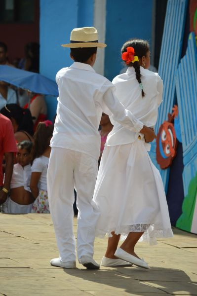 Children dancing Salsa in Sancti Spiritus