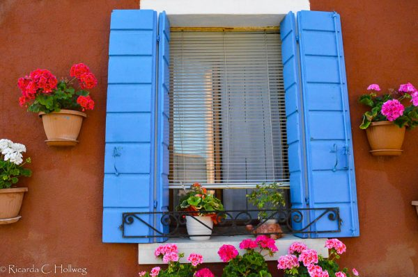 Blue window of Burano
