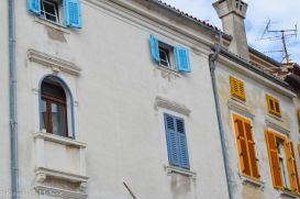 Colorful Window Shutters in Piran