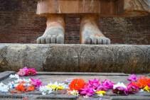 Buddha's feet in Sri Lanka