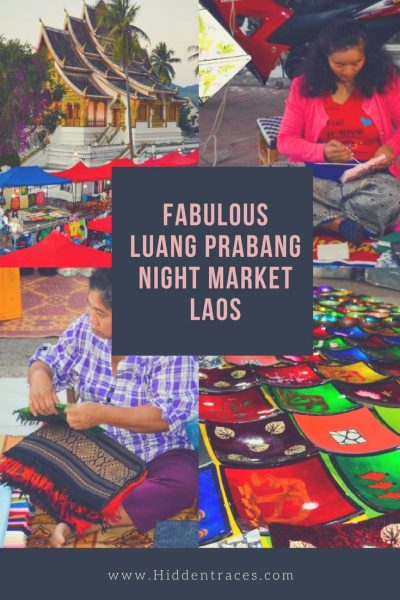 Pinterest Pin Luang Prabang Night Market English