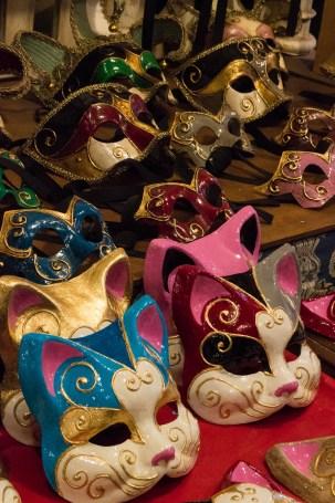 Cat masks at Mistero Buffo in Venice