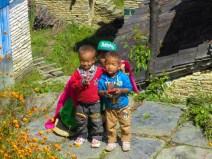 Children in a Nepalese village