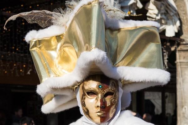 Golden costume at Venice Carival
