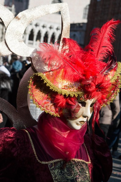 Red costume at Venice Carnival