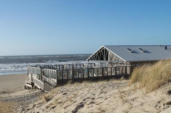 Beach restaurant on Texel
