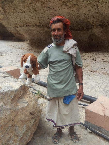 Man with the Lovely Dog in Oman