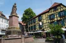 Beautful square in Ribeauvillé