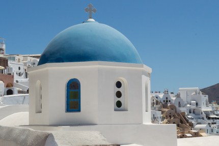 Blue Dome in Oia Santorini
