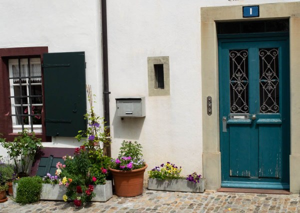 Entrance in the old town of Basel